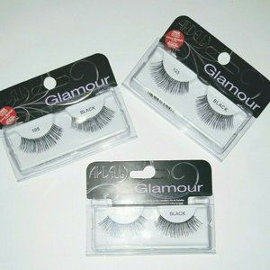 3x Ardell False Eyelashes 105 Glamour Lashes